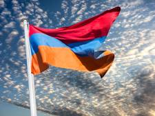 Café 't Wapen van Drenthe (Assen) en De Pijp (Groningen) maandagavond door lichtprojectie in teken van Armeense Onafhankelijkheidsdag