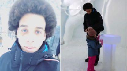 Witsel laat zich vanuit Lapland voor het eerst zien na stevige val over traphekje