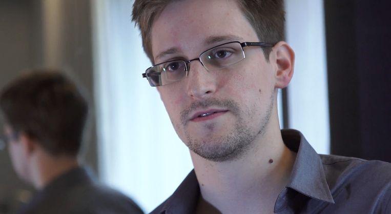 Edward Snowden op een door The Guardian vrijgegeven foto. Beeld getty