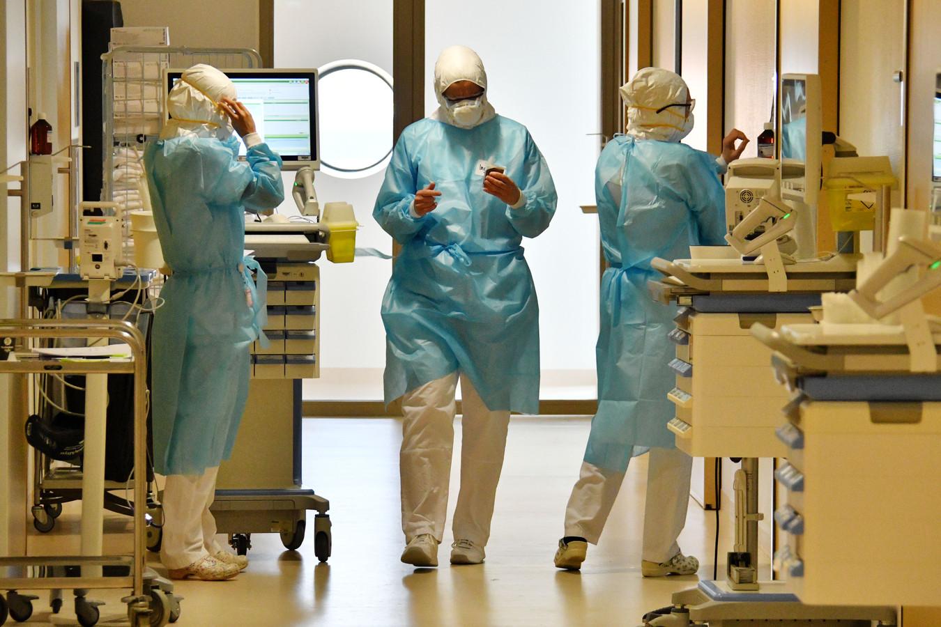 De corona-afdeling in ziekenhuis MST.