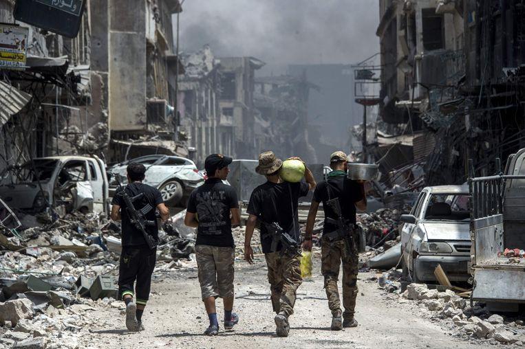 Iraakse troepen in Mosul. Beeld AFP
