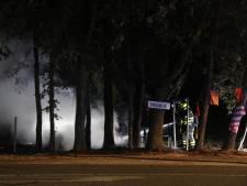 Fruitkraam vliegt in brand in Heijen