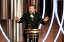 Ricky Gervais bij de Golden Globes