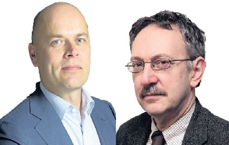 Mathijs Bouman en Gabriël van den Brink. Beeld