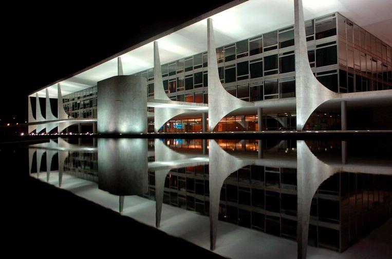 De Planalto Place, sinds 2007 het hoofkwartier van de Braziliaanse regering. Beeld EPA