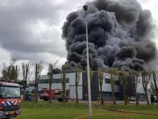 Grote brand in het Westelijk Havengebied