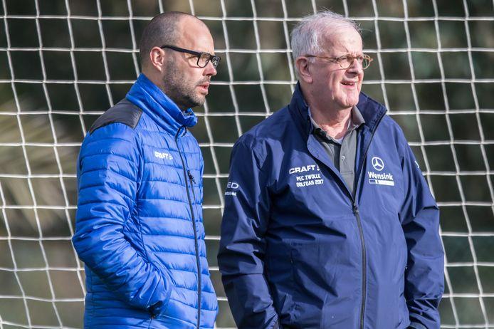 MIJAS, 07-01-2018, Spanje, trainingskamp, seizoen 2017-2018, eredivisie, Pec Zwolle, technisch directeur Gerard Nijkamp en voorzitter Adriaan Visser (R)