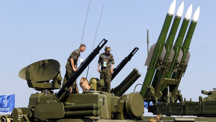 Een Russisch BUK-raketsysteem in 2011.
