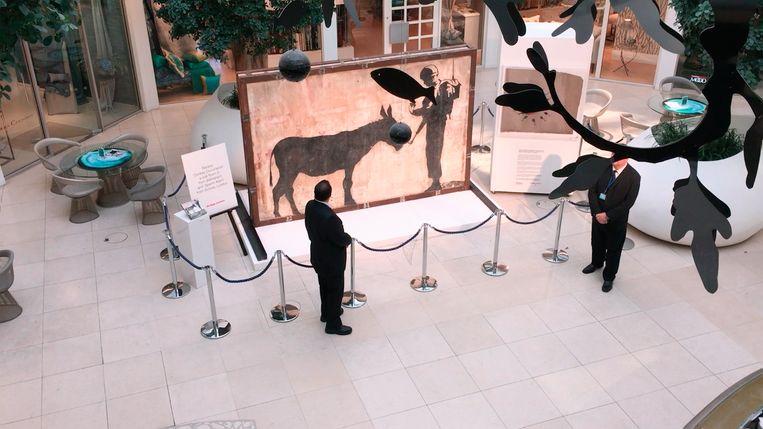 De 'gestolen' Banksy: een plak beton met een gewicht van vier ton. Beeld