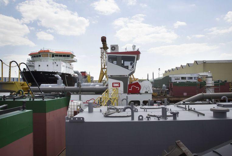 Een schip bij het maritiem concern IHC in Sliedrecht. Beeld ANP, Arie Kievit