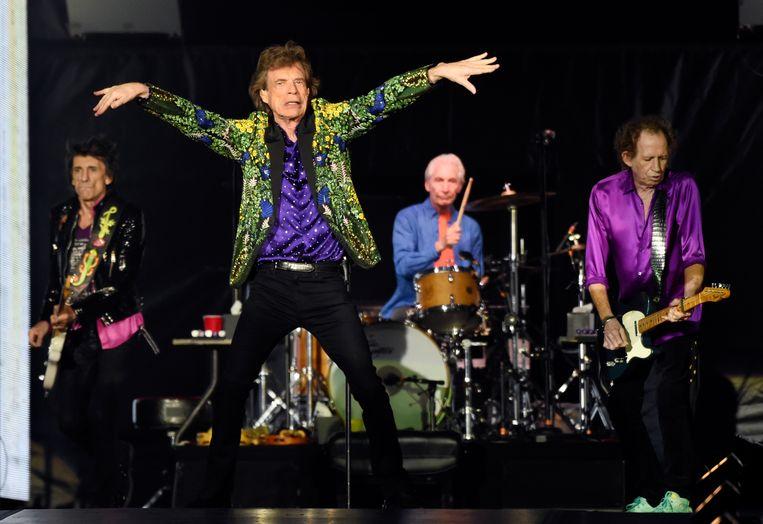 De Rolling Stones zijn blij met de naam Rolling Stones Rock. Beeld Chris Pizzello/Invision/AP