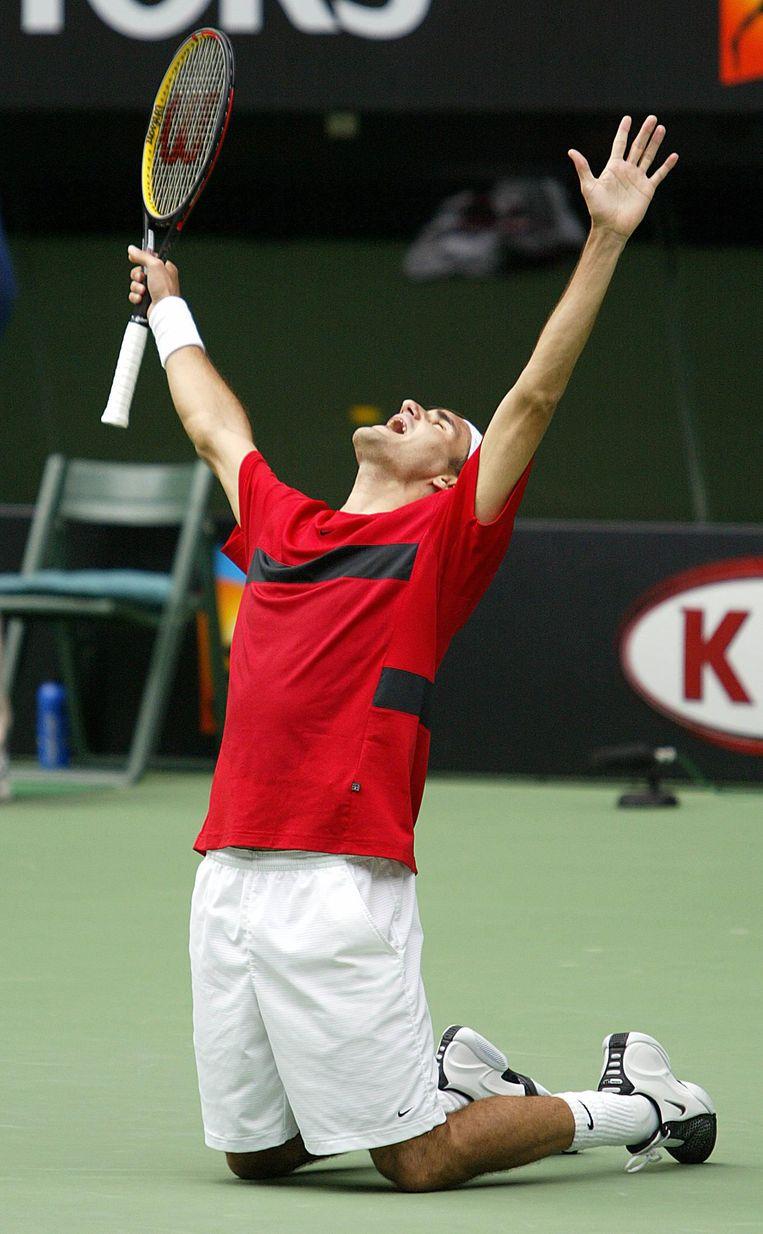 Federer in 2004. Beeld null