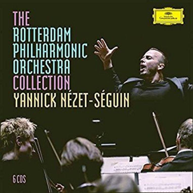De albumcover van The Rotterdam Philharmonic Orchestra Collection. Yannick Nézet-Séguin. Beeld RV