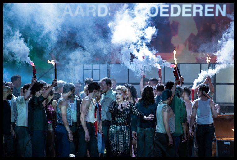 'Aufstieg und Fall der Stadt Mahagonny' van De Nationale Opera is een van de vele producties die voorlopig niet doorgaat.  Beeld credits BAUS
