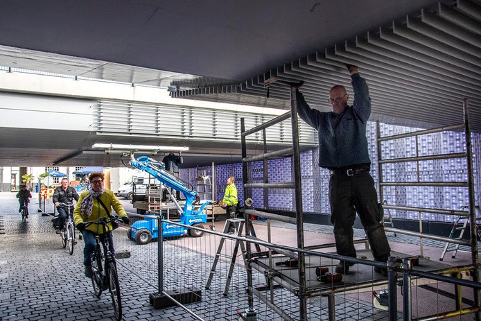 Werk aan de Willem II-passage. Foto Jan van Eijndhoven