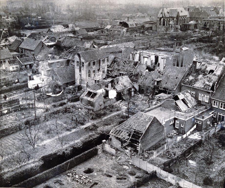 Het centrum van Schijndel werd compleet verwoest in de tijd van Operatie Market Garden.