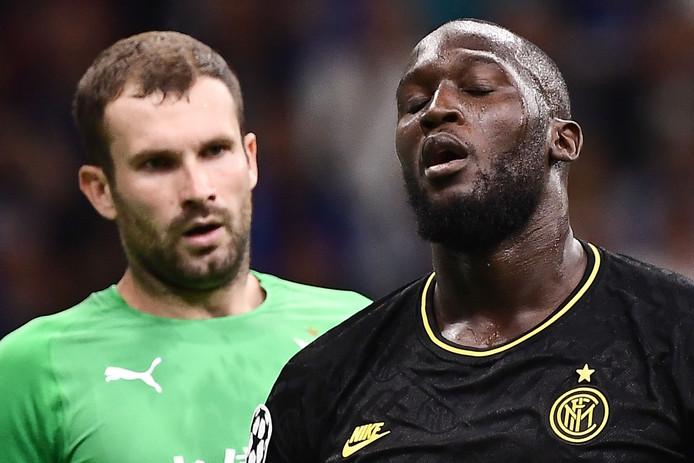 Romelu Lukaku a failli offrir la victoire à l'Inter en toute fin de rencontre, mais le gardien du Slavia Prague y est allé d'une splendide parade.