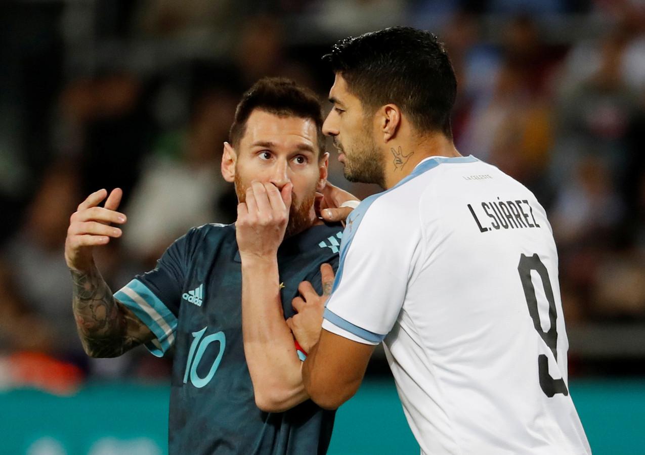 Lionel Messi en Luis Suarez