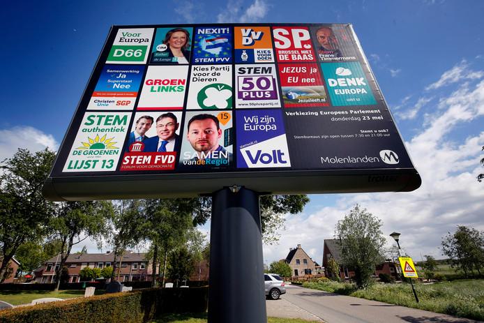 'Brussel niet de baas' is het motto van de SP bij de verkiezingen voor het Eurpees parlement.