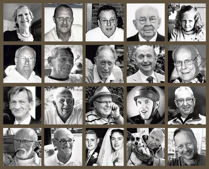 De gezichten van mensen die overleden aan Q-koorts