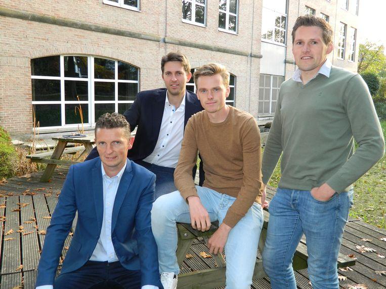 De jonge nieuwkomers, met van links naar rechts Kenny Ketels, Lucas Van Der Meersch, Sven Roegiers en Jonas De Wispelaere.