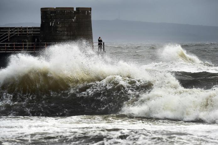 De storm Ophelia in Schotland vorig jaar.