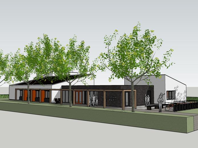 Impressie van het toekomstige buurthuis De Pit.