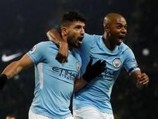Manchester City spoelt lichte kater weg met hattrick Agüero