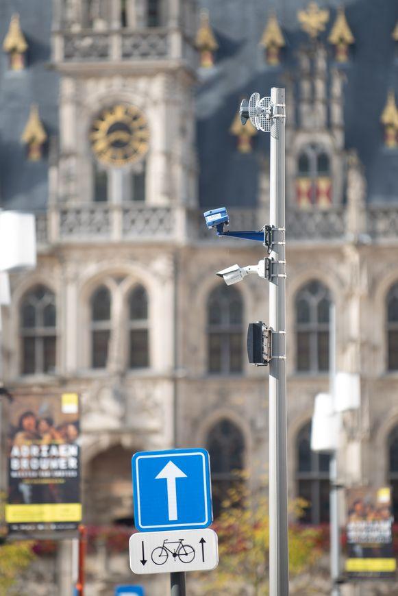 De ANPR-camera op de Markt in Oudenaarde