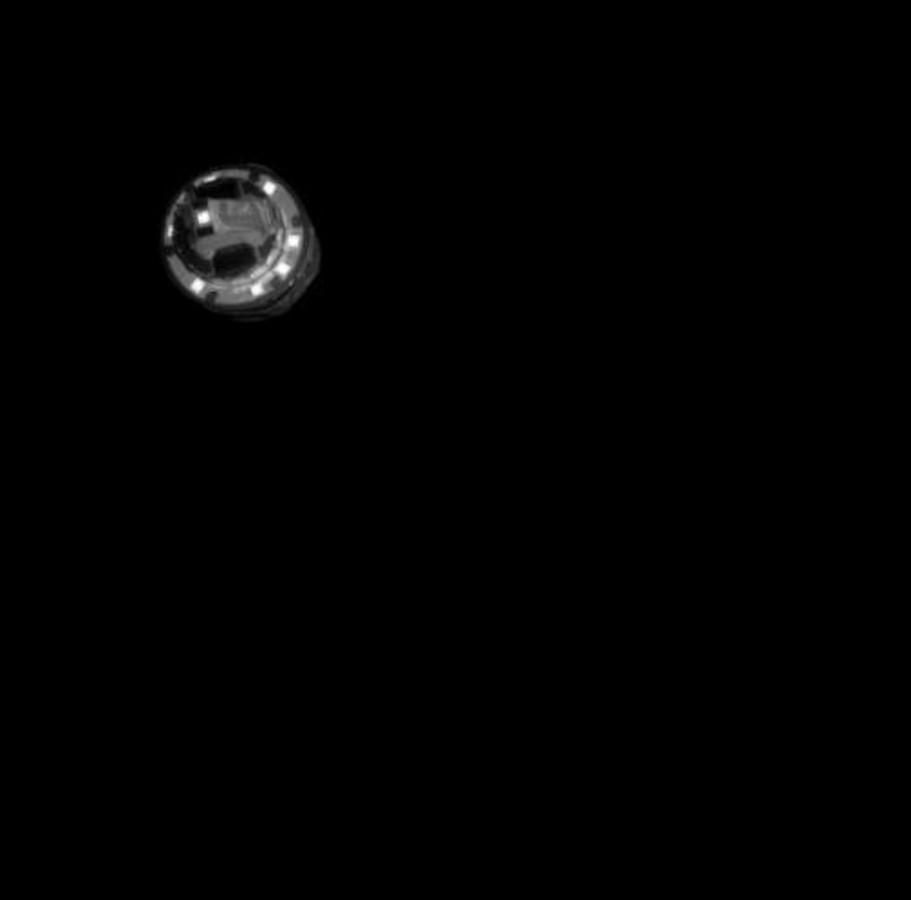 Na de lancering liet een camera zien hoe de impactor koers zetten naar Ryugu.