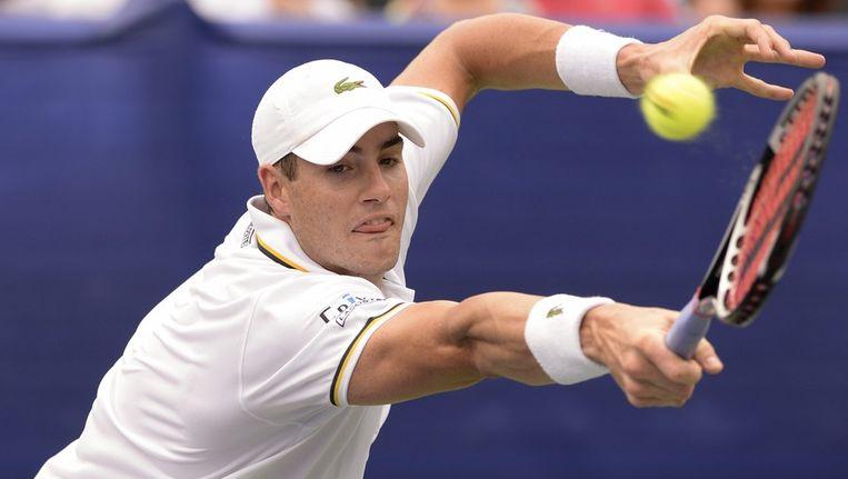 John Isner, tijdens de finale van het ATP-toernooi in Atlanta. Beeld epa