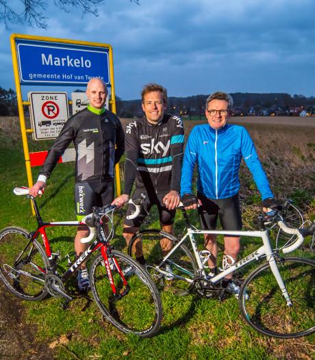 Markeloërs Jeroen, Edwin en Niek gaan met een lach en een traan de Alpe d'Huez op