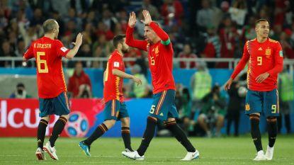 Spanje groepswinnaar nadat het zwoegt en zweet tegen Marokko maar toch gaat 'La Roja' niet zonder zorgen richting volgende ronde