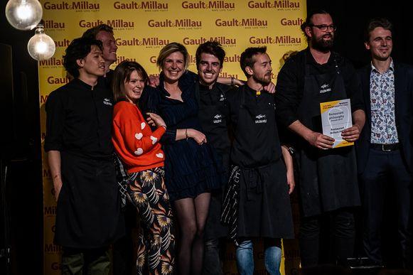Het team van Willem en Shannah na de prijsuitreiking maandagavond
