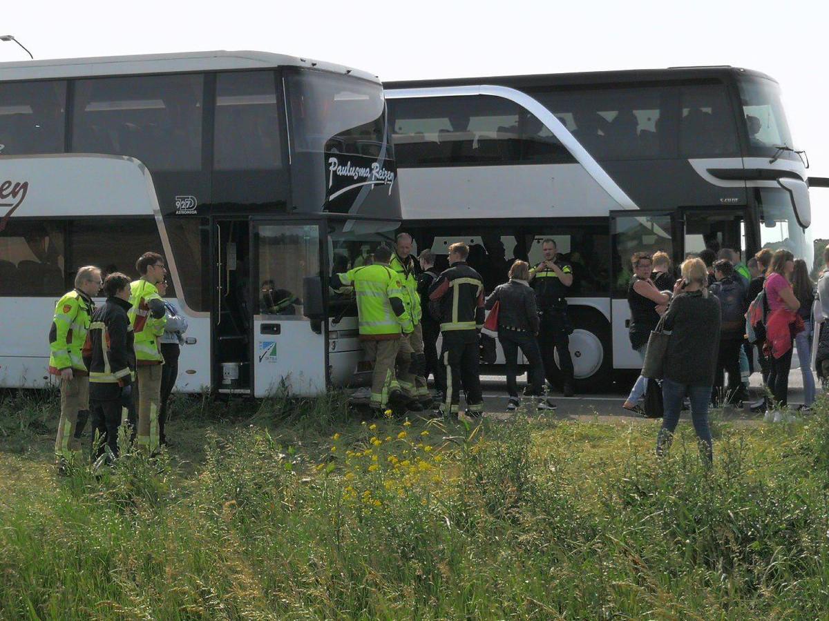 De leerlingen worden met een andere bus opgehaald