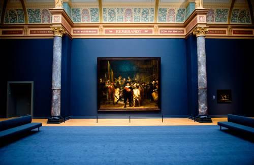 De Nachtwacht in het Rijksmuseum.