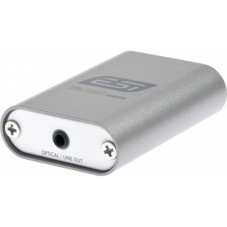 ESI Dr. DAC nano interface Micro-dac met alleen koptelefoonuitgang om beter geluid uit laptop of pc te halen. 70 euro. Beeld