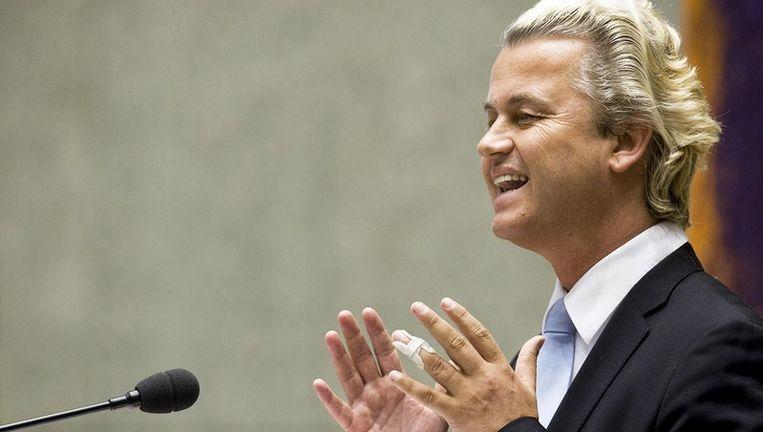 De vragen van de PVV lagen gevoelig omdat de partij van Geert Wilders een immigratiestop bepleit. Foto ANP Beeld