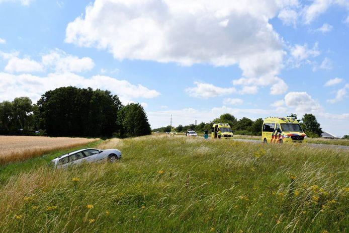 De automobilist raakte gewond bij het ongeval op de A58.