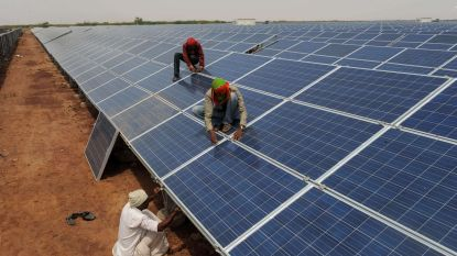 India start bouw gigantisch zonnepark: 11.000 hectare en werk voor 20.000 mensen