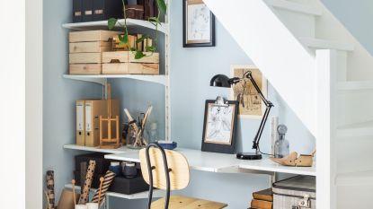 Trendy kantoor bij je thuis