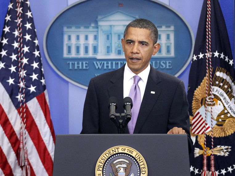 De Amerikaanse president Barack Obama Beeld ap