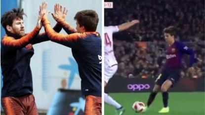 Messi zag het al lang: Barça-wonderkind waarmee Lionel zich kosteloos amuseert en omschreven wordt als pure poëzie maakt met vernuftige assist furore bij debuut