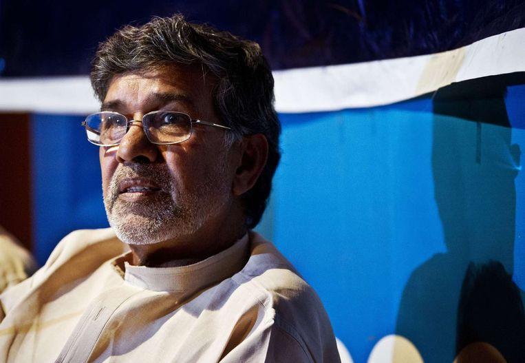 Nobelprijswinnaar Kailash Satyarthi. Beeld afp