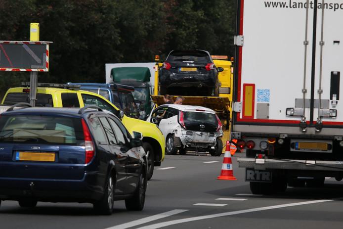 Het ongeluk op de A73 bij Heumen.