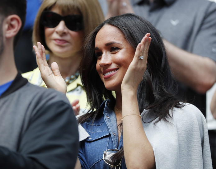 Meghan Markle est venue encourager son amie Serena Williams à l'US Open.