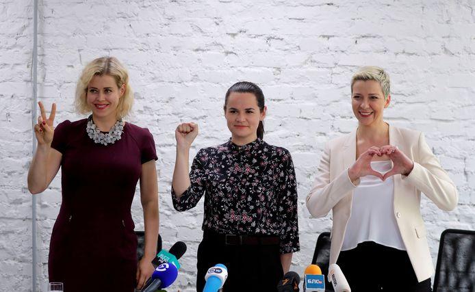 Veronika Tsepkalo, Svetlana Tikhanovskaïa et Maria Kolesnikova