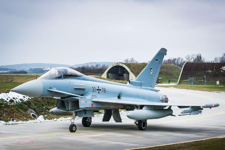 Een Eurofighter van de Duitse luchtmacht.