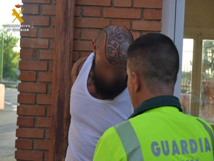 Errol J. bij zijn aanhouding op 25 juni in Spanje.