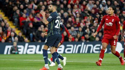 Topaffiche baart een muis: Liverpool en City verdelen de buit, Mahrez antiheld met strafschopmisser